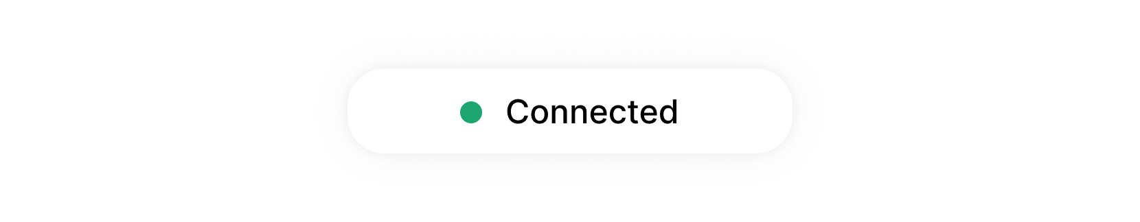 A green dot with the text 'connected' demonstrating the new last seen indicator in the admin panel.